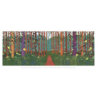 David Hockney-The Arrival of Spring in Woldgate, East Yorkshire-2016 Poster For Sale