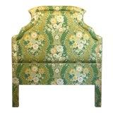 Image of Hollywood Regency Designer Made Custom Chintz Floral Full- Sized Headboard For Sale