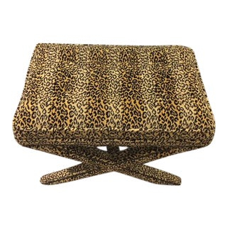 Animal Print X Bench For Sale