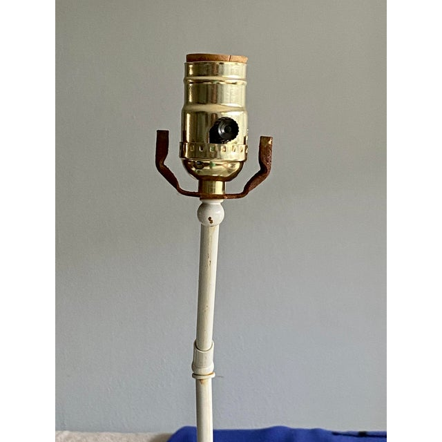 Vintage White Palm Beach Monkey Lamp For Sale - Image 10 of 11