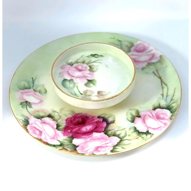 Limoges French Porcelain Tiered Serving Plate For Sale - Image 11 of 11