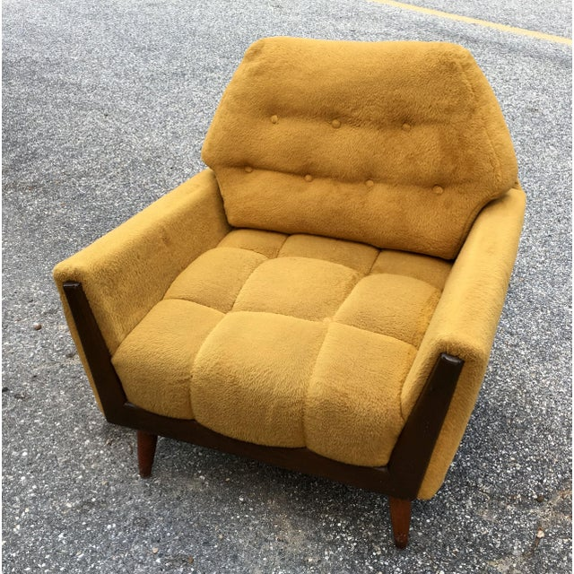 Mid Century Adrian Pearsall Angled Walnut Lounge Chair - Image 3 of 6