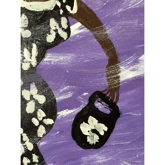 Purple Cloud Painting by Missionary Mary For Sale - Image 4 of 7