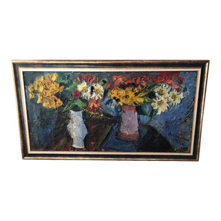 "1957 Vintage Pierre Ambrogiani ""Bouquets of Flowers"" Painting For Sale"