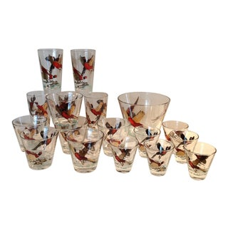 Mid-Century Modern Barware Glasses - Set of 18 For Sale