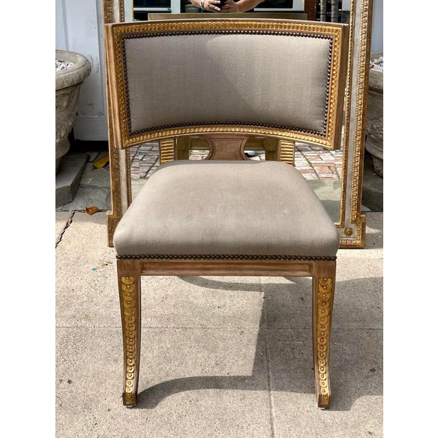 Mid-Century Modern Quatrain by Dessin Fournir Swedish Neoclassical Style Side Chair For Sale - Image 3 of 7