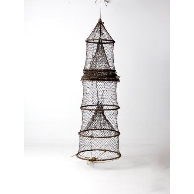 Vintage Fyke Fishing Net For Sale - Image 9 of 9