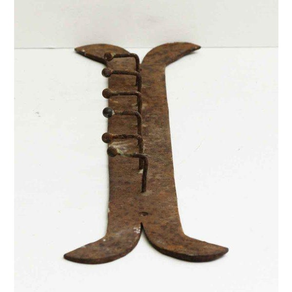 Rustic Country Iron Wall Rack For Sale - Image 5 of 6