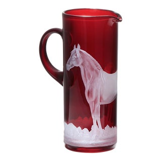 Horse Pitcher, Red For Sale