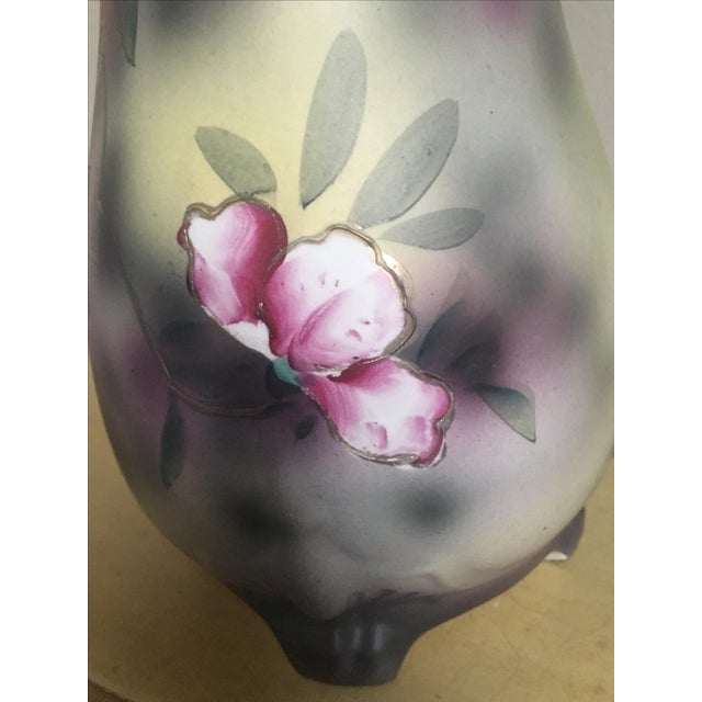 Nippon French Regency Hand Painted Vase, Victorian Vintage - Image 8 of 10