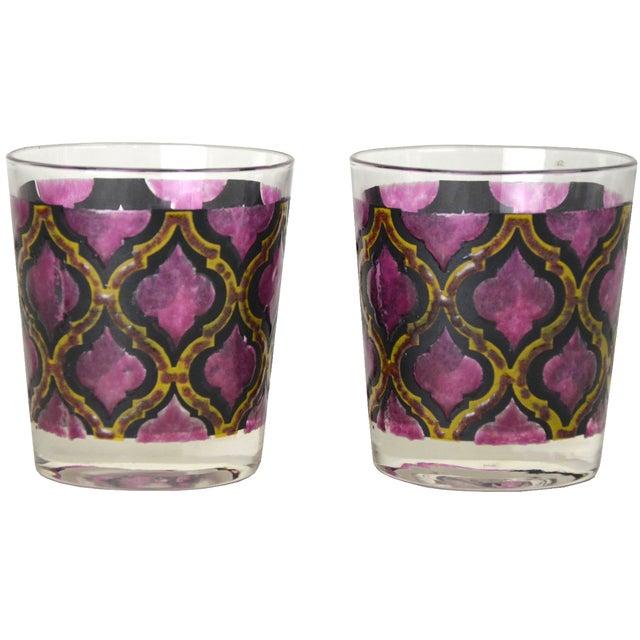 Vintage Harlequin Cocktail Glasses - A Pair - Image 1 of 4