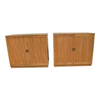 1950s Mid-Century Modern Edward Wormley for Drexel Precedent Cabinets - a Pair For Sale