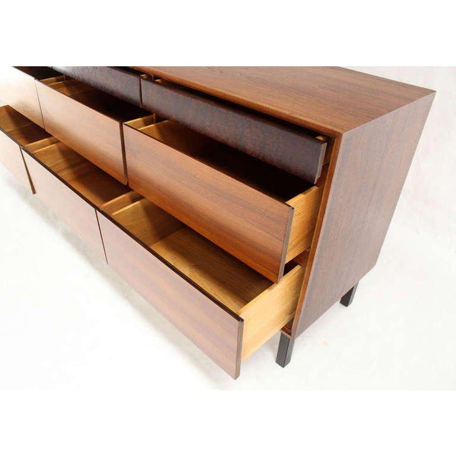 Brown Danish Mid-Century Modern Walnut Long Dresser or Credenza by John Stuart For Sale - Image 8 of 10