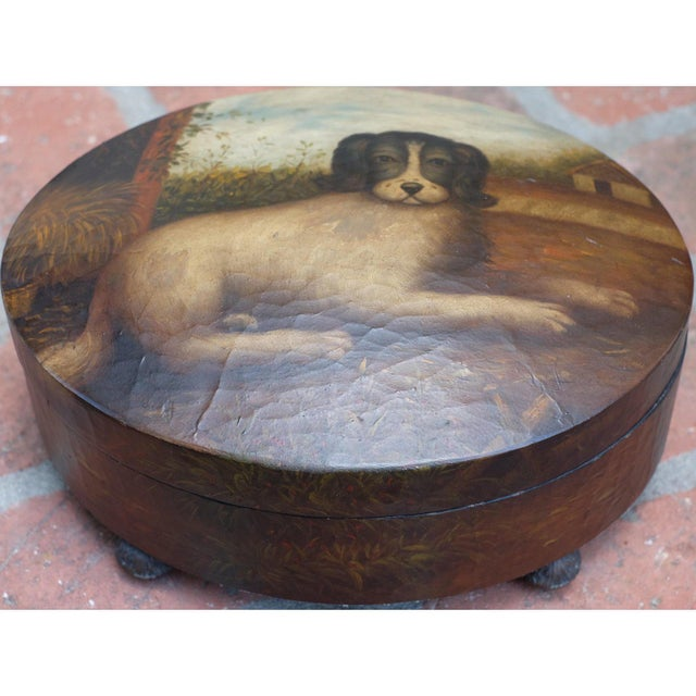 Cottage Handmade & Painted Dog Box For Sale - Image 3 of 8