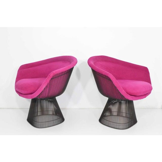 Pair of 1960s Bronze Warren Platner Lounge Chairs - Image 2 of 9