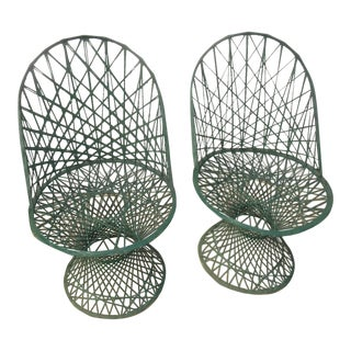 Vintage Spun Fiberglass Patio Chairs - A Pair
