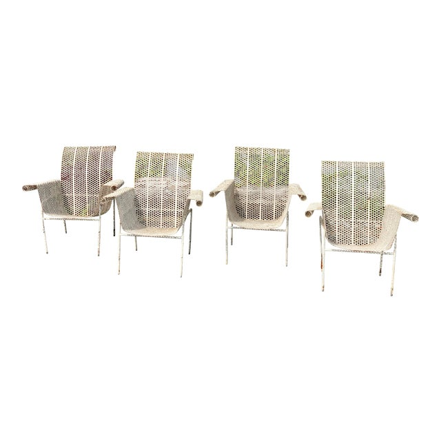 French Garden Chairs - Set of 4 For Sale