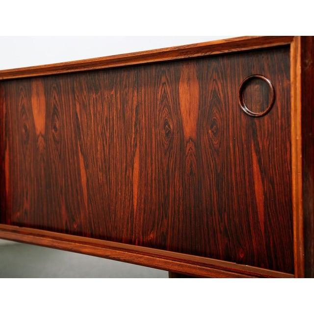 1960s Slim Rosewood Credenza by Haug Snekkeri For Sale - Image 5 of 11