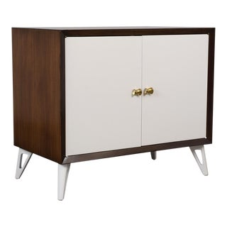 Slick Mid Century Modern Lacquered Server For Sale