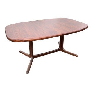 1960s Danish Modern Rosewood Dining Table For Sale