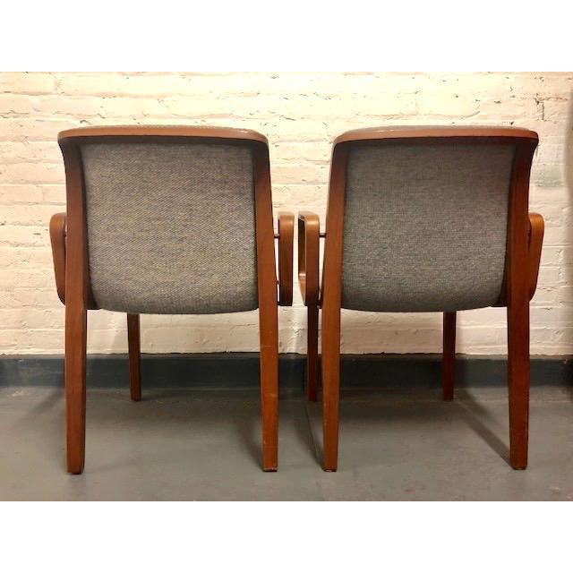 Mid-Century Modern 1980s Vintage Mid-Century Modern Bill Stephens for Knoll Chairs - A Pair For Sale - Image 3 of 12