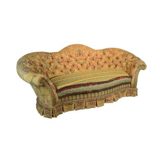 e.j. Victor Large Impressive Tufted Upholstered Serpentine Sofa
