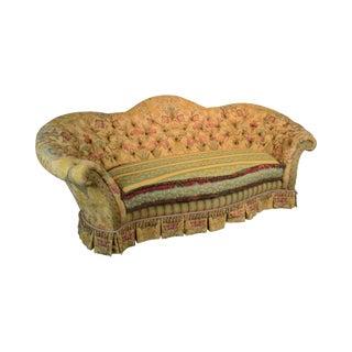 e.j. Victor Large Impressive Tufted Upholstered Serpentine Sofa For Sale