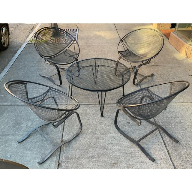 Salterini Radar Lounge Chairs and Coffee Table Patio Set For Sale In New York - Image 6 of 6