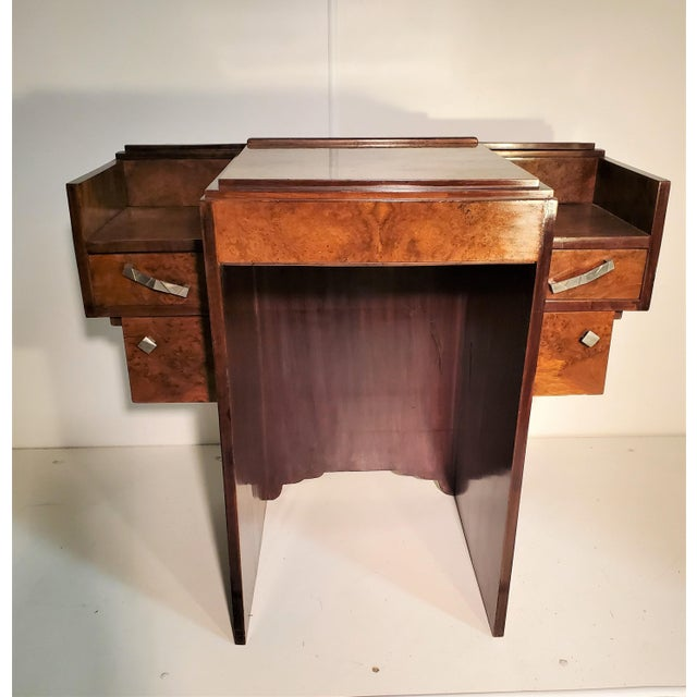 Early 20th Century French Art Deco Writing Vanity Desk For Sale - Image 13 of 13