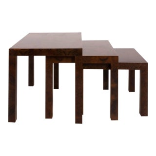 Calvin for Directional Wood Nesting Tables - Set of 3 For Sale
