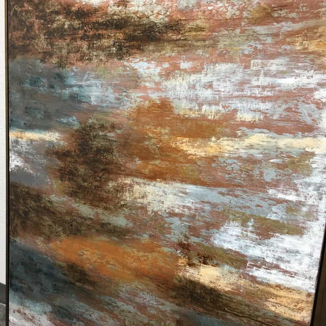 """Horchow Original Oil Painting Titled """"Luminescence"""" in Custom Frame - Image 7 of 11"""