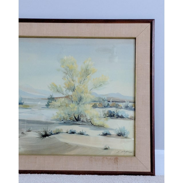 Printmaking Materials Evelyn E. McGinnis Mid-Century Watercolor Paintings - A Pair For Sale - Image 7 of 11