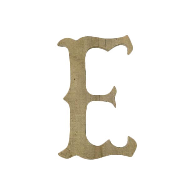 French Carved Wood Marquee Letter - Image 1 of 2