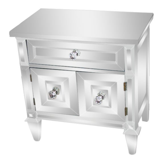 Pair of Custom American Mirrored Cabinet Commodes For Sale