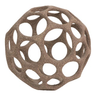 Pamela Sunday Stoneware Cellular Sphere For Sale