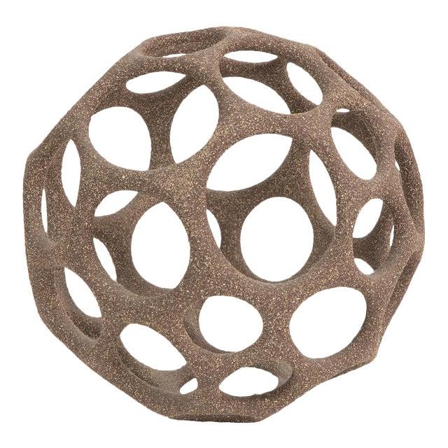 Pamela Sunday Stoneware Cellular Sphere For Sale