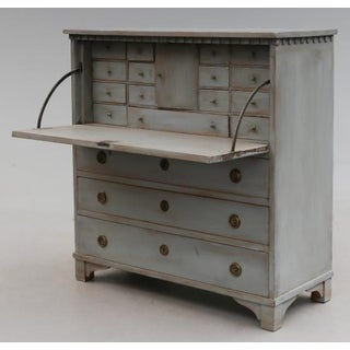 Gray-Painted Writing Bureau Preview