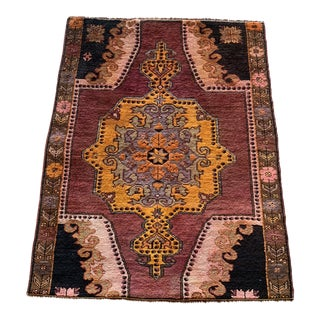 1990s Turkish Rug - 4′4″ × 5′4″ For Sale