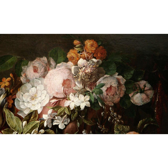 Transitional 18th C. Dutch Still Life Oil Painting For Sale - Image 3 of 11