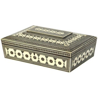 Large 19th Century Anglo-Indian Bone Sewing Box For Sale