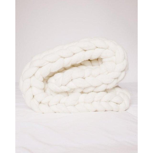 Fiber Handmade Chunky Wool Throw For Sale - Image 7 of 7