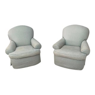 Hollywood Club Chairs - a Pair For Sale