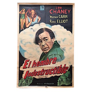 "Vintage ""El Hombre Indestructible"" Film Poster For Sale"