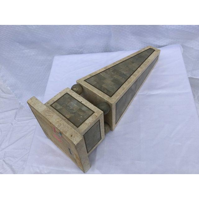 Maitland Smith Tessellated Stone Obelisk - Image 7 of 8