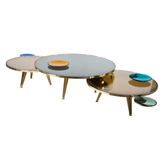 Riflesso Coffee Tables - Set of 3 For Sale - Image 10 of 13