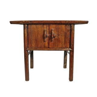 Vintage Elm Entry Side Cabinet For Sale
