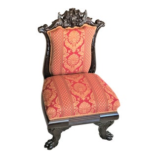 Early 1800s French Empire Slipper Chair For Sale