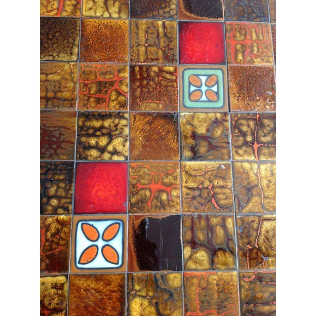 French 1960s Dining Table With Ceramic Tiled Top - Image 8 of 11