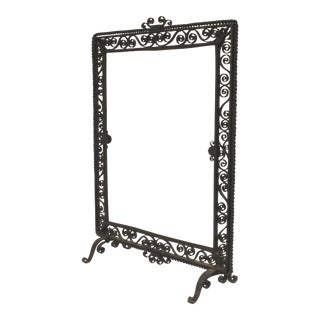 American Art Deco Wrought Iron Fire Screen For Sale