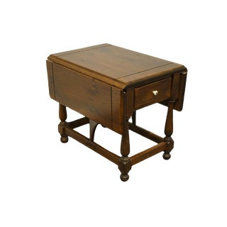 "Ethan Allen Antiqued Pine Old Tavern 38"" Drop Leaf / Pembroke Accent End Table - 12-8054 For Sale"